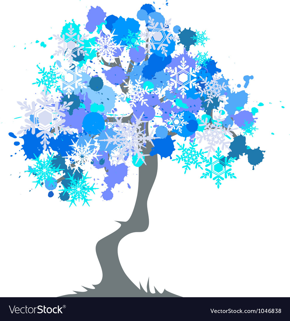 Winter - abstract tree vector | Price: 1 Credit (USD $1)