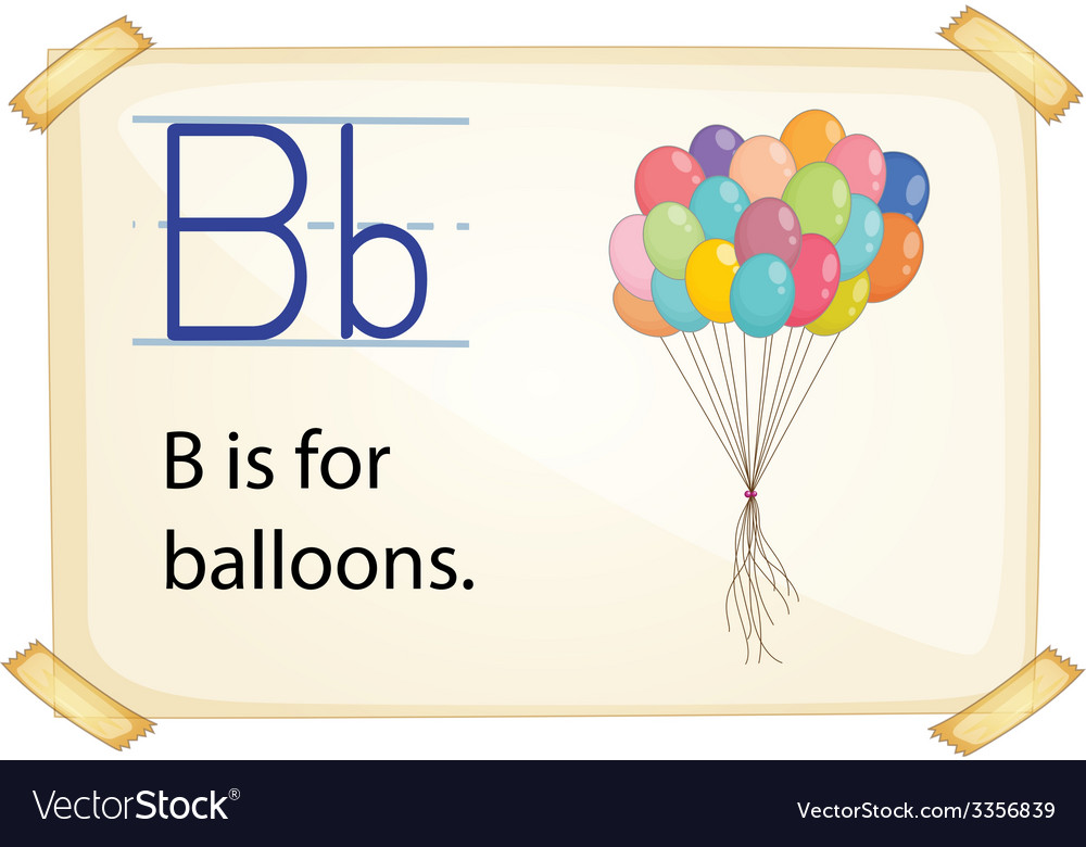 A letter b for balloons vector | Price: 3 Credit (USD $3)