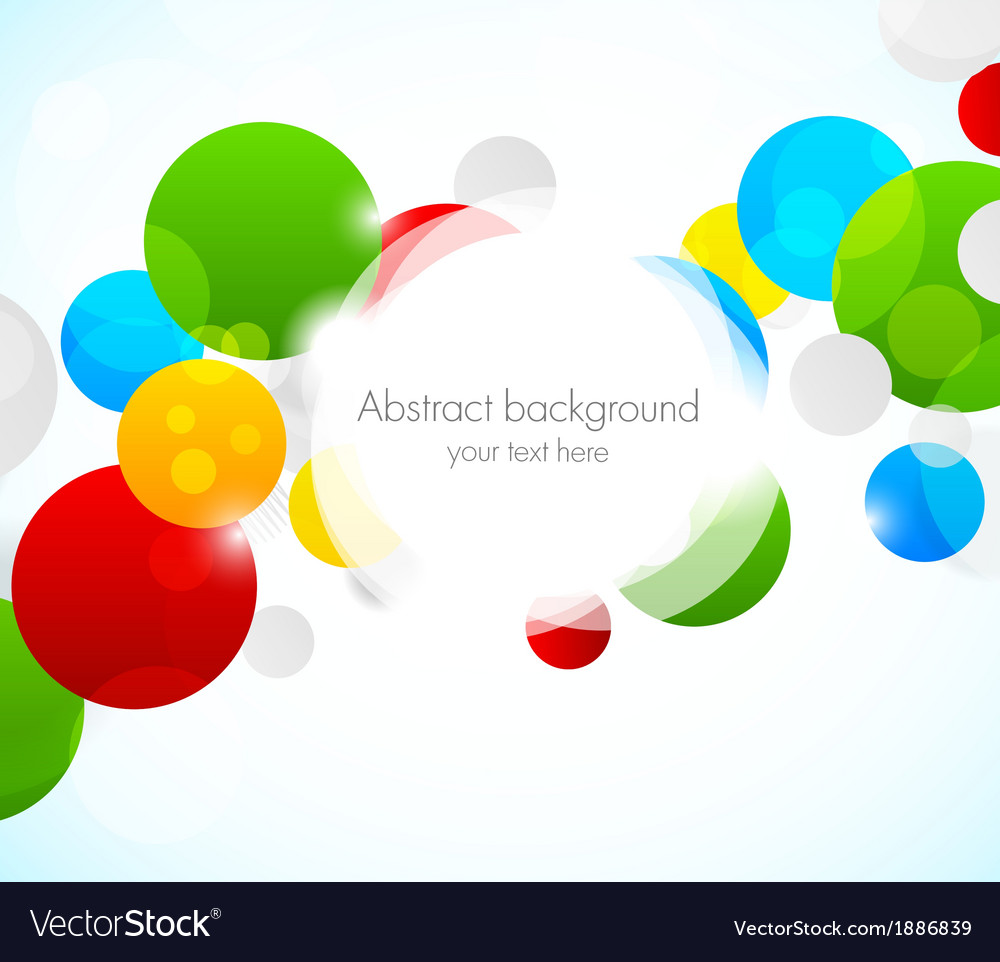 Abstract colorful background with circles vector | Price: 1 Credit (USD $1)