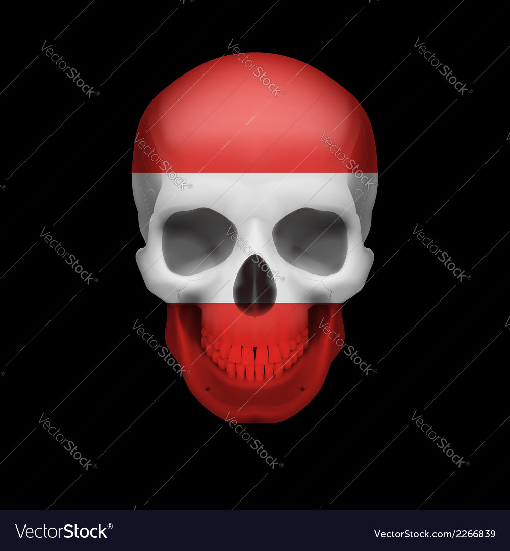 Austrian flag skull vector | Price: 1 Credit (USD $1)