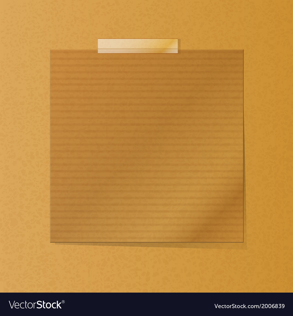 Brownpaper note on texture background vector | Price: 1 Credit (USD $1)