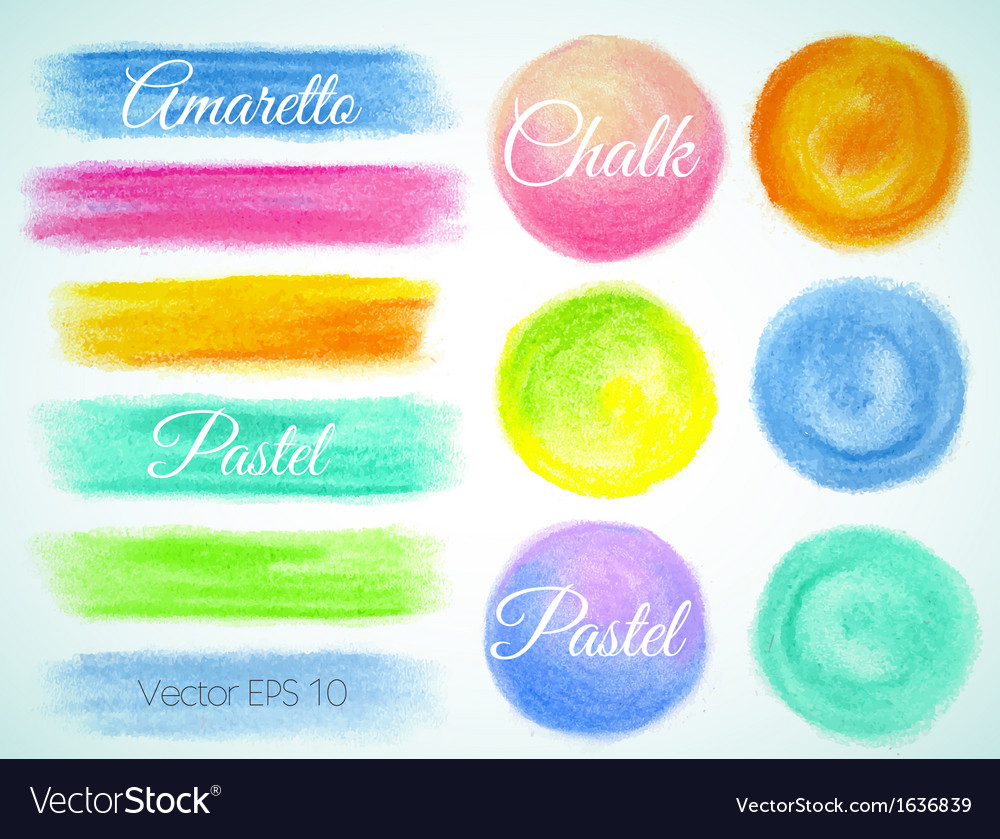 Crayon design swabs balls vector | Price: 1 Credit (USD $1)