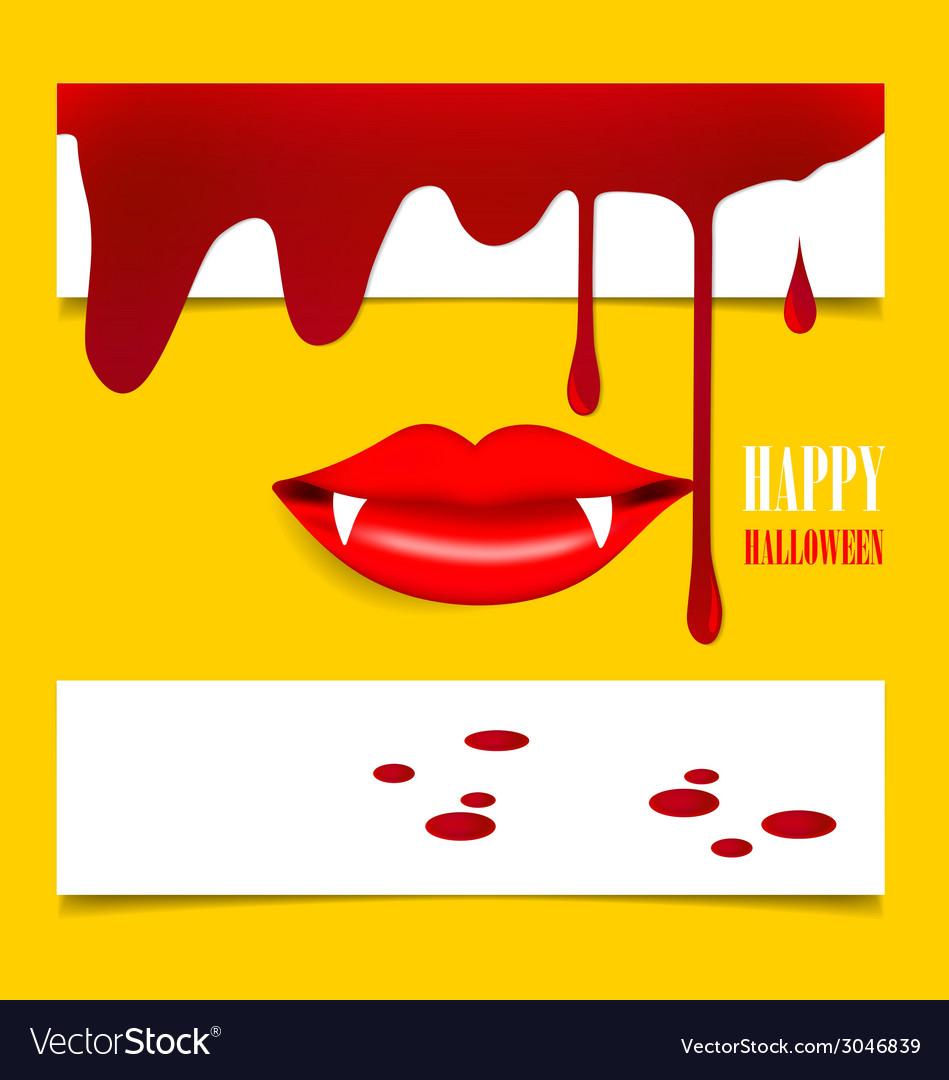Happy halloween design background with vampire vector   Price: 1 Credit (USD $1)