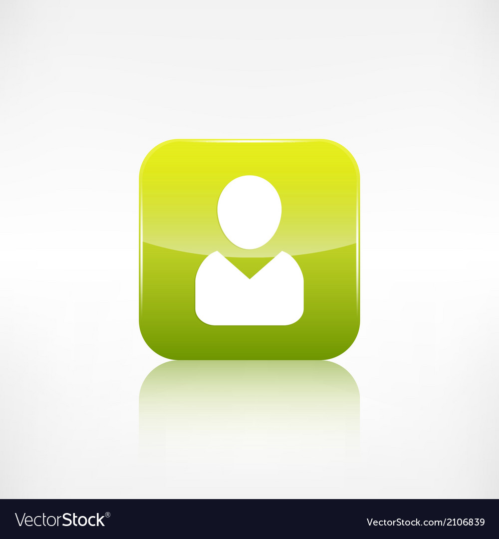 Person icon application button vector | Price: 1 Credit (USD $1)