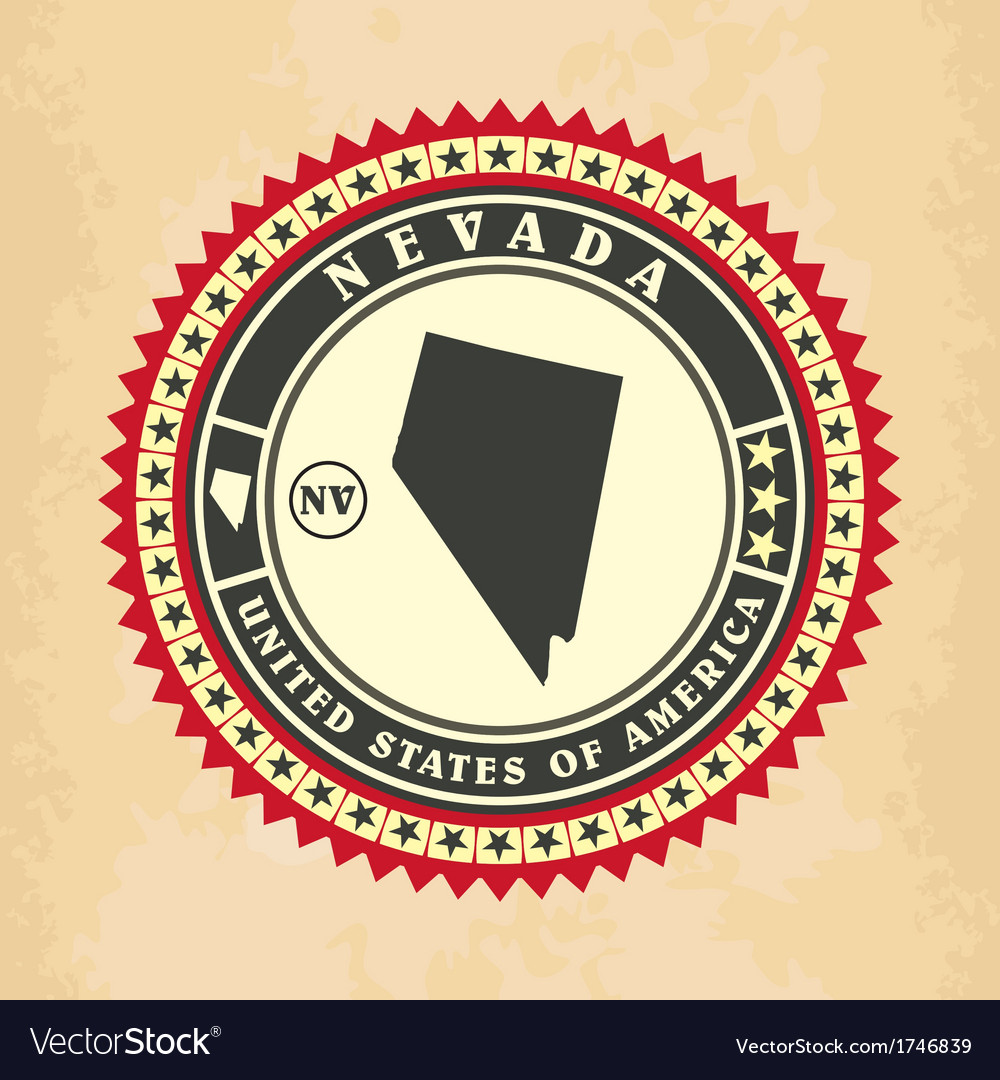 Vintage label-sticker cards of nevada vector | Price: 1 Credit (USD $1)