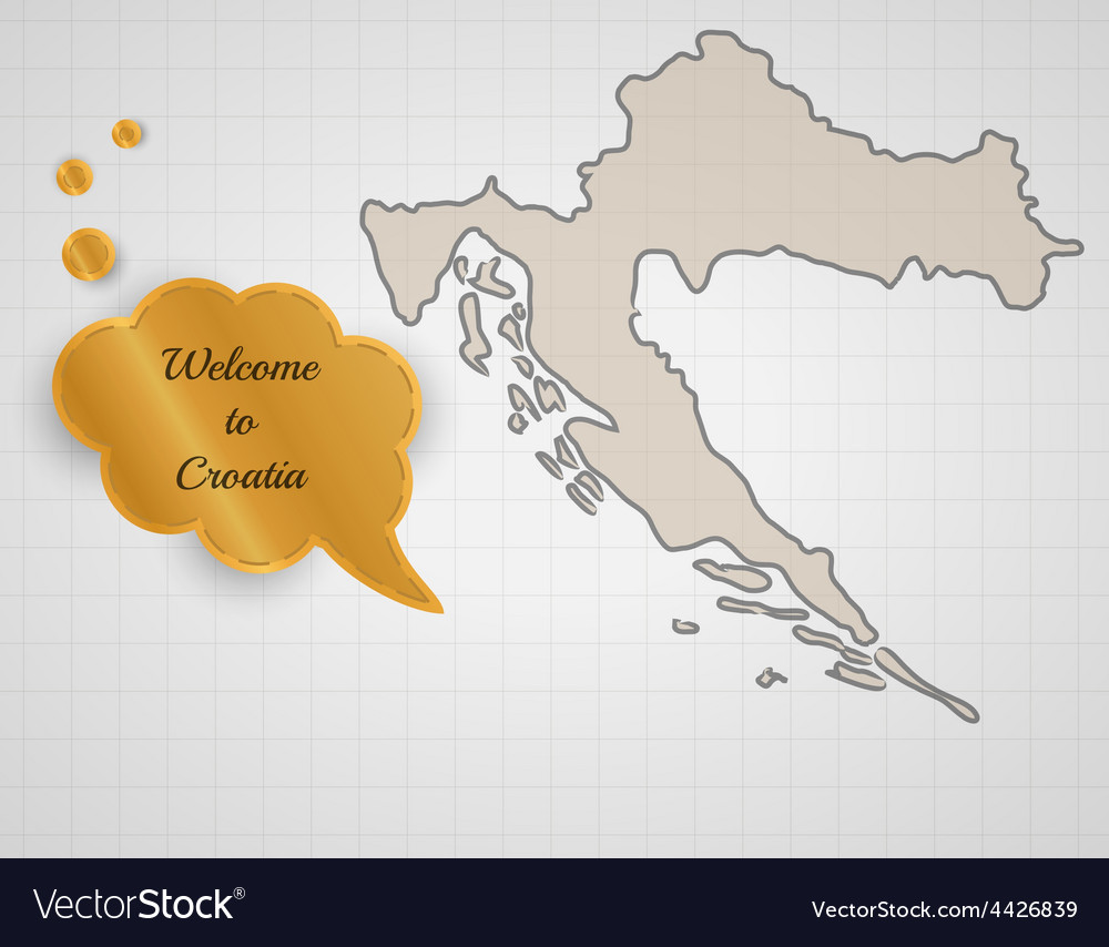 Welcome to croatia vector | Price: 1 Credit (USD $1)