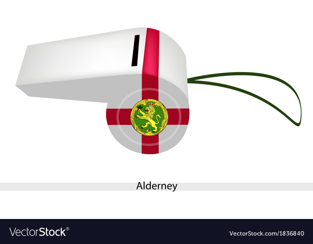A beautiful white whistle of alderney flag vector | Price: 1 Credit (USD $1)
