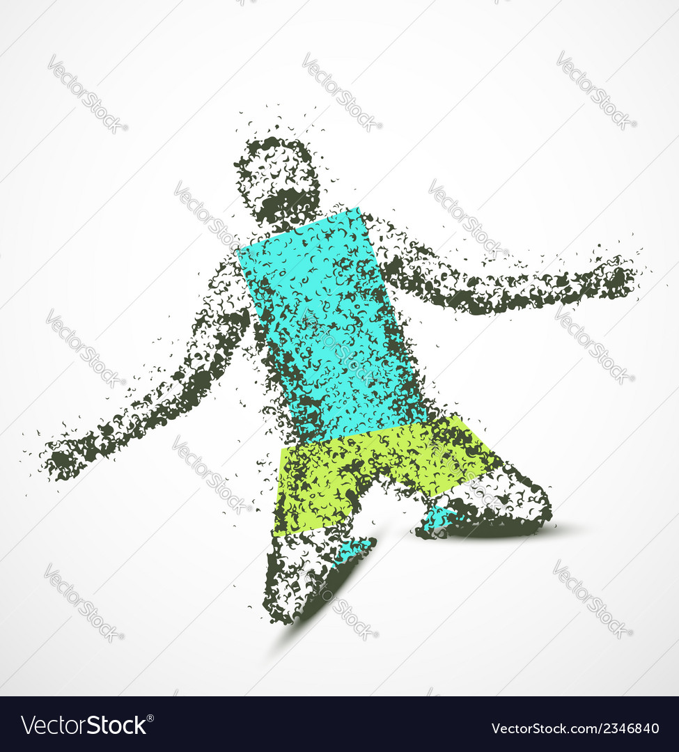 Abstract man vector | Price: 1 Credit (USD $1)