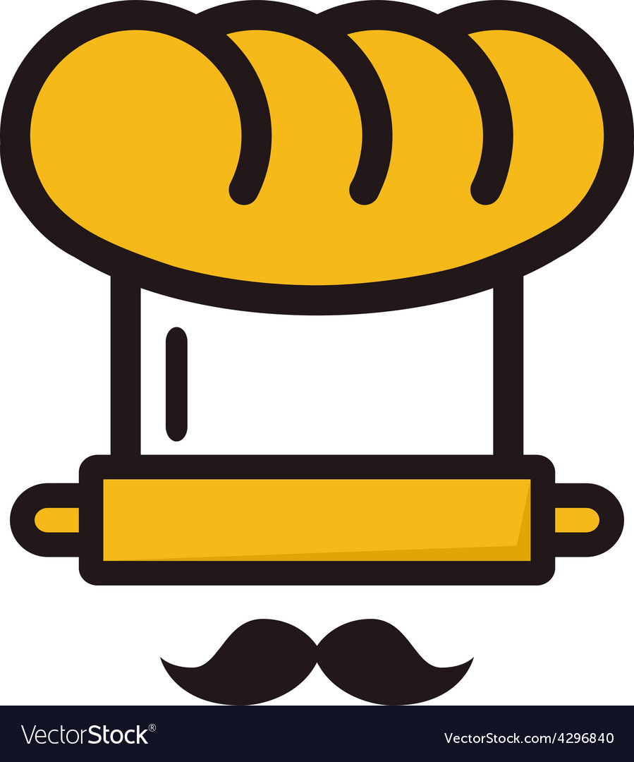 Baker robot logo unusual logotype for bakeries vector   Price: 1 Credit (USD $1)