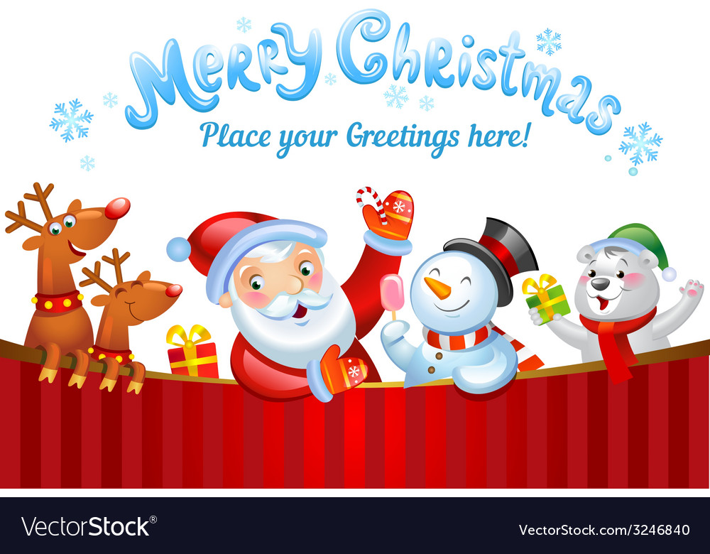 Christmas background with santa claus vector | Price: 3 Credit (USD $3)