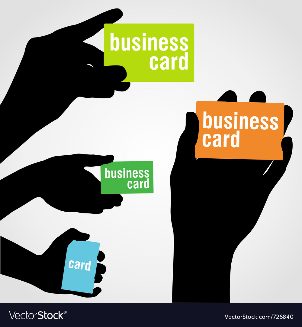 Hand holding blank business card vector | Price: 1 Credit (USD $1)