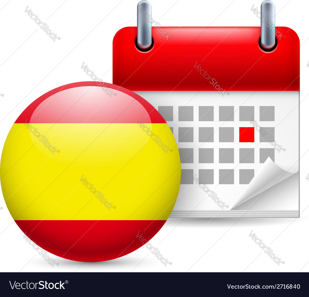 Icon of national day in spain vector | Price: 1 Credit (USD $1)