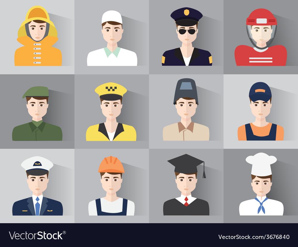 Male profession vector | Price: 1 Credit (USD $1)