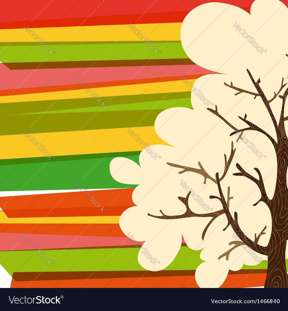 Multicolor tree background vector | Price: 1 Credit (USD $1)