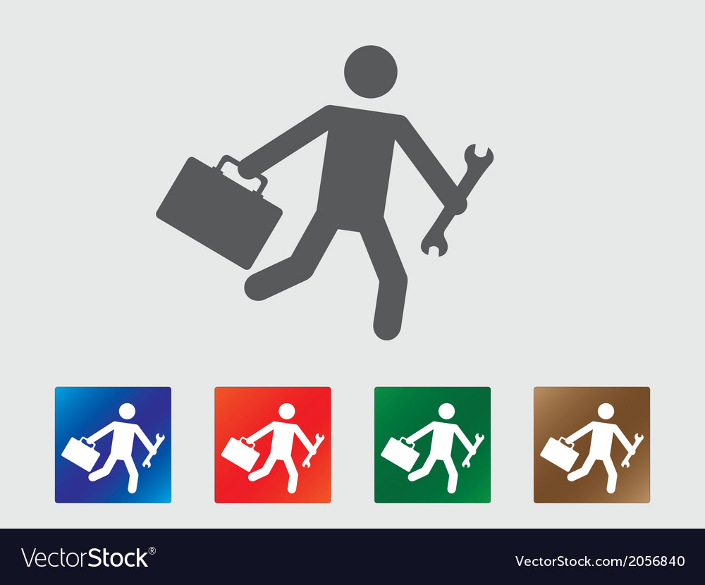 People late for work icons vector | Price: 1 Credit (USD $1)