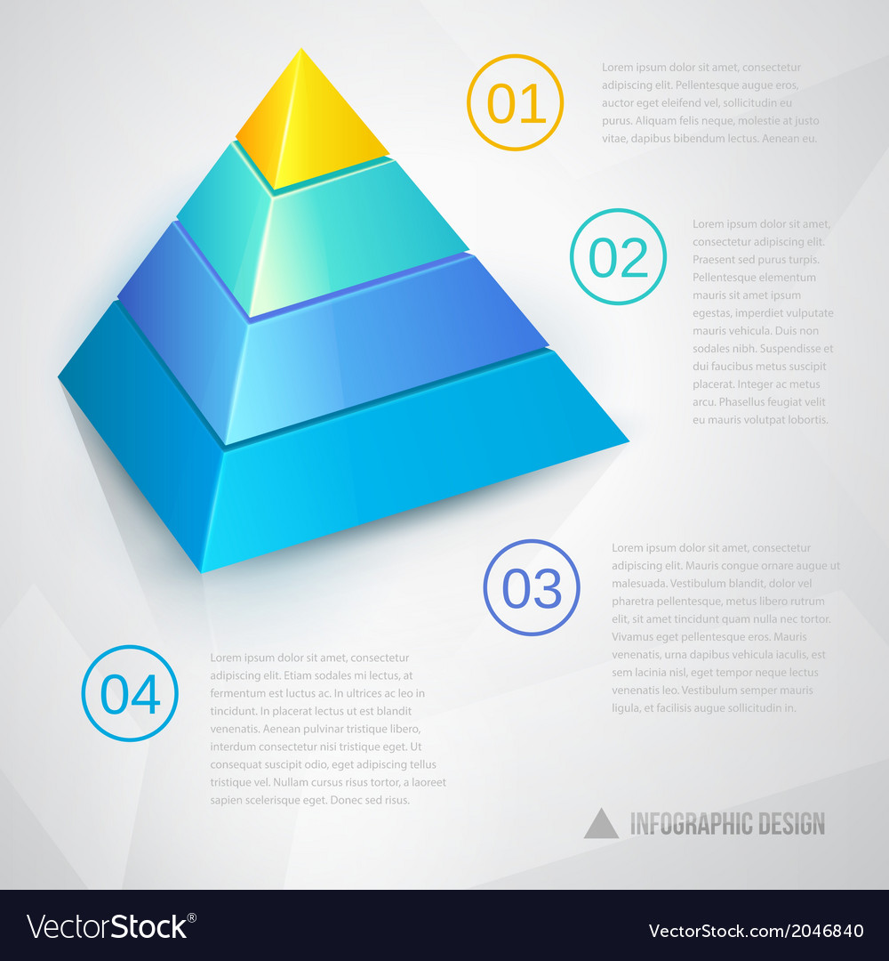 Presentation template with pyramid vector | Price: 1 Credit (USD $1)