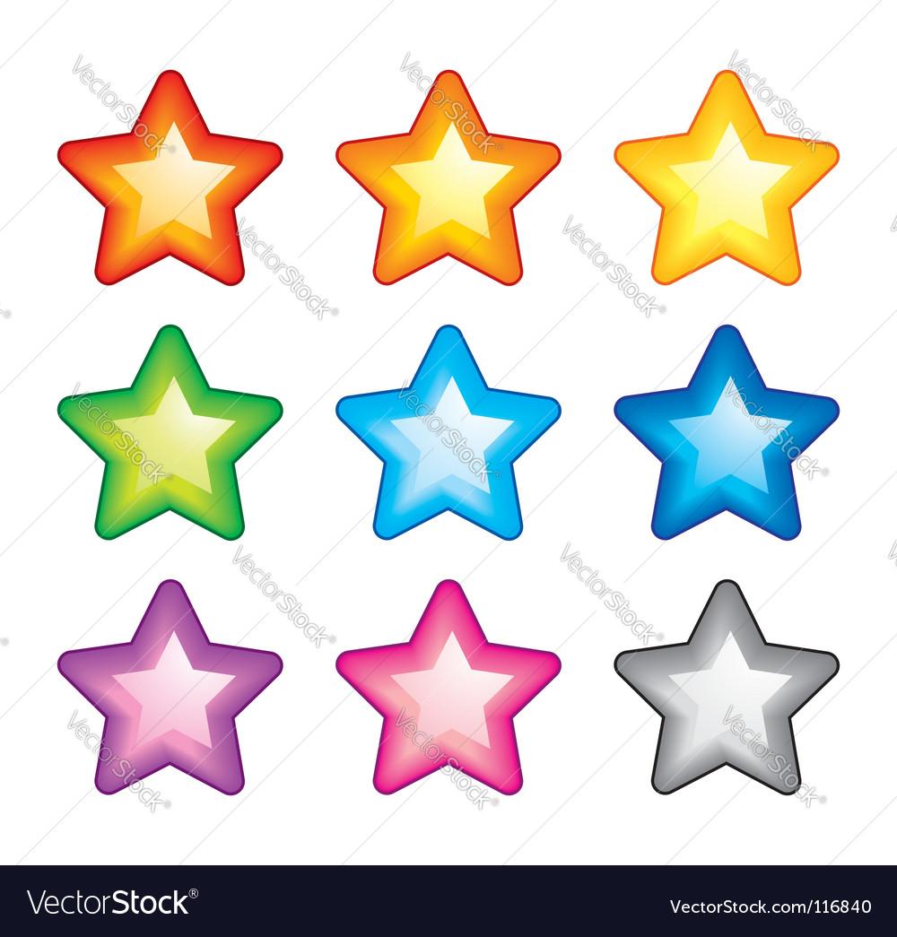 Rainbow stars vector | Price: 1 Credit (USD $1)