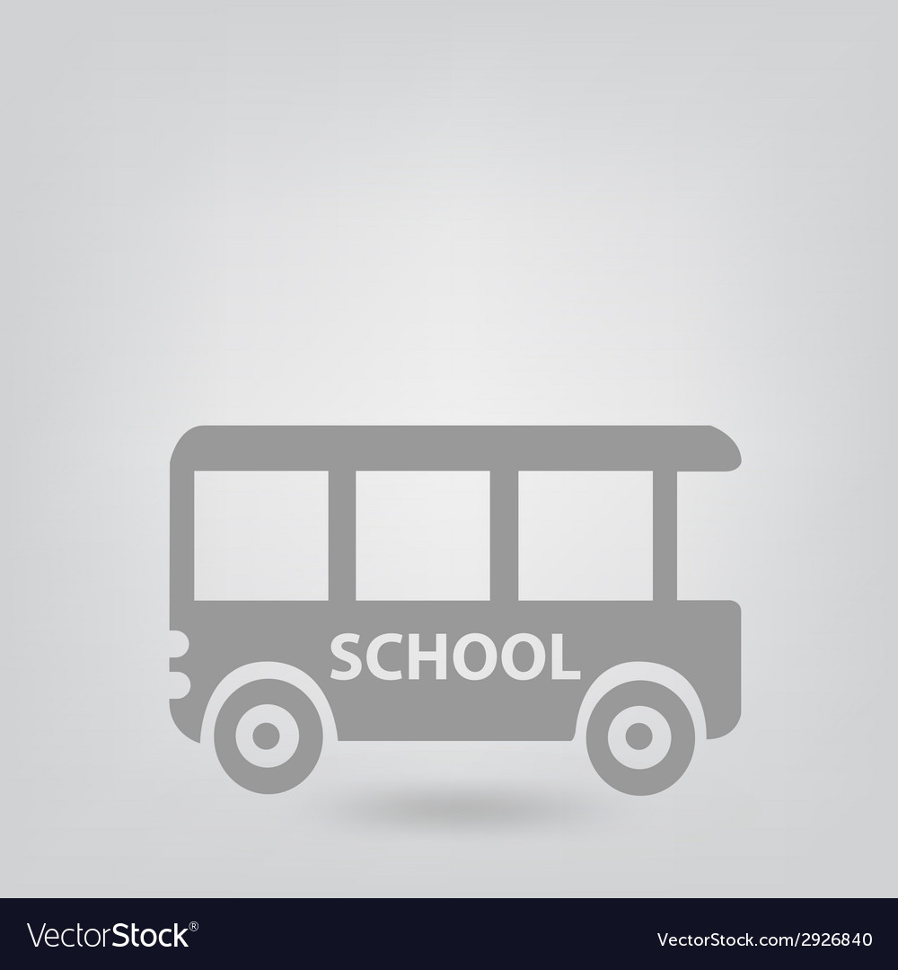 School bus icon vector | Price: 1 Credit (USD $1)