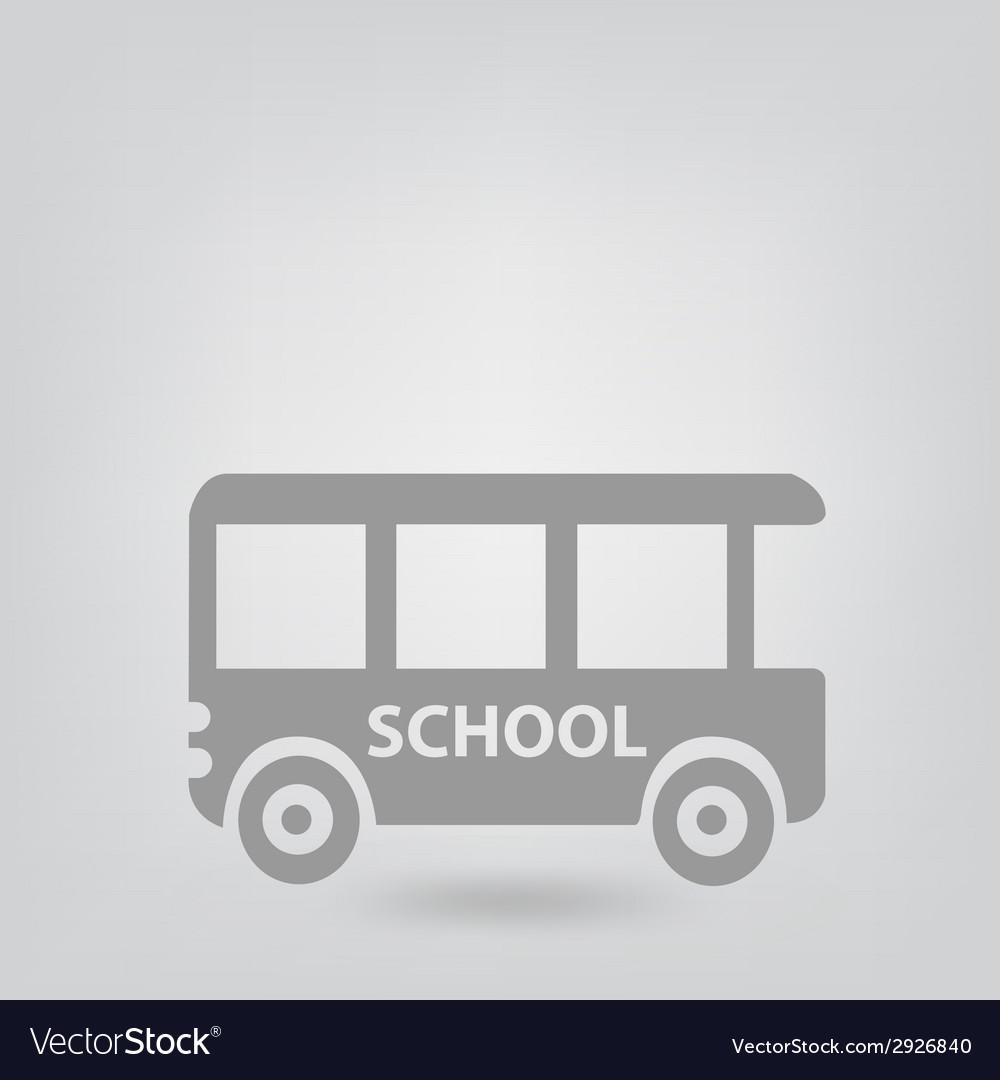 School bus icon vector   Price: 1 Credit (USD $1)