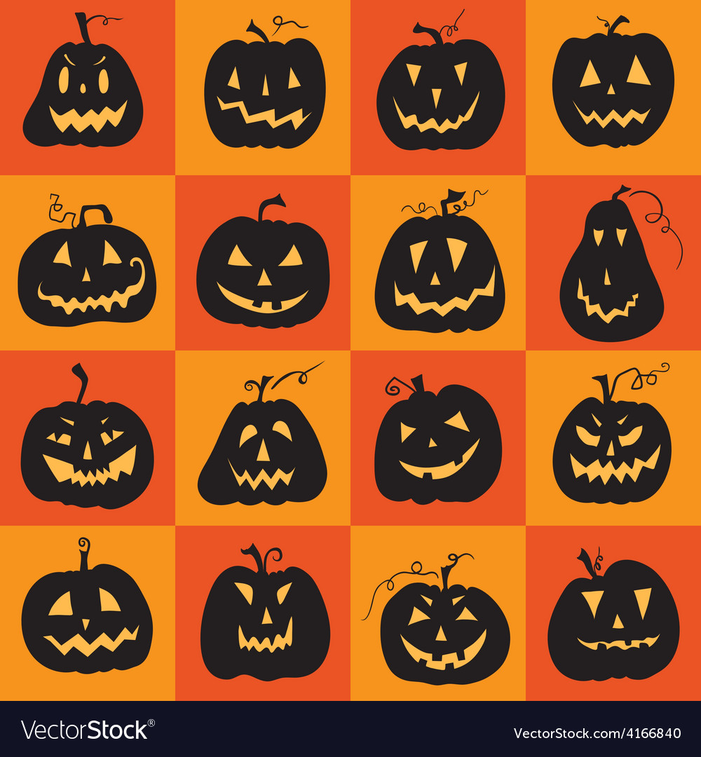Set of a scary halloween pumpkin vector | Price: 1 Credit (USD $1)