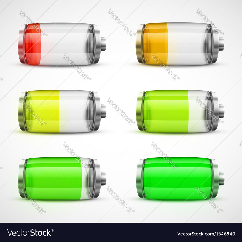 Set of batteries vector | Price: 3 Credit (USD $3)