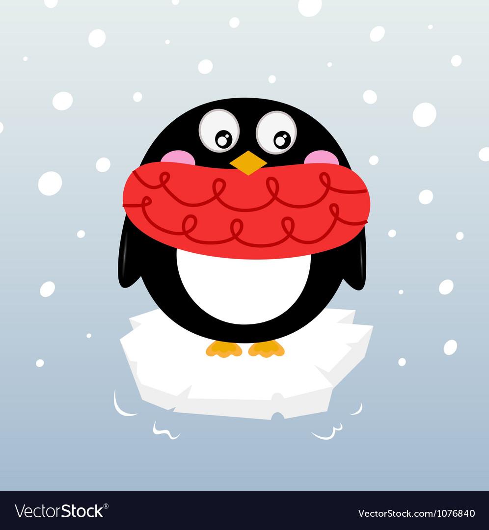 Winter penguin vector | Price: 1 Credit (USD $1)