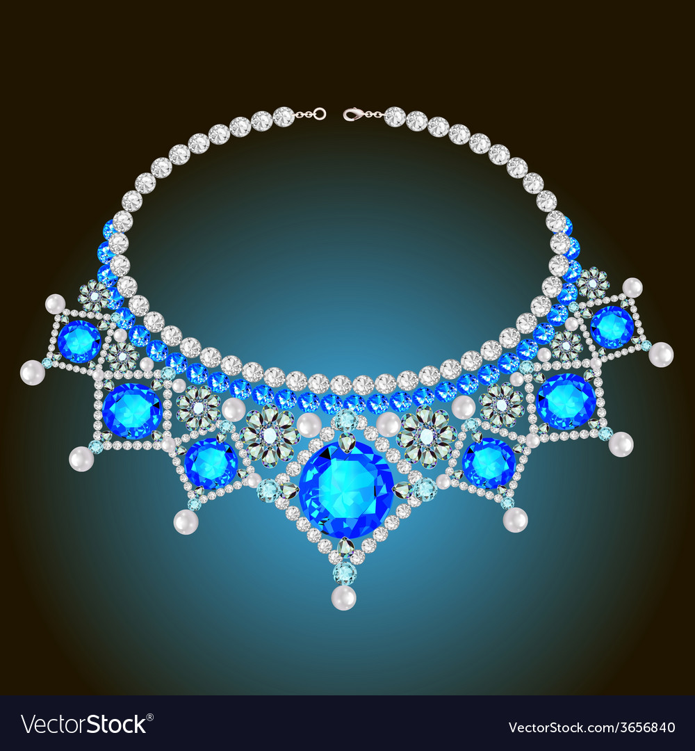 Womans necklace with pearls vector | Price: 1 Credit (USD $1)