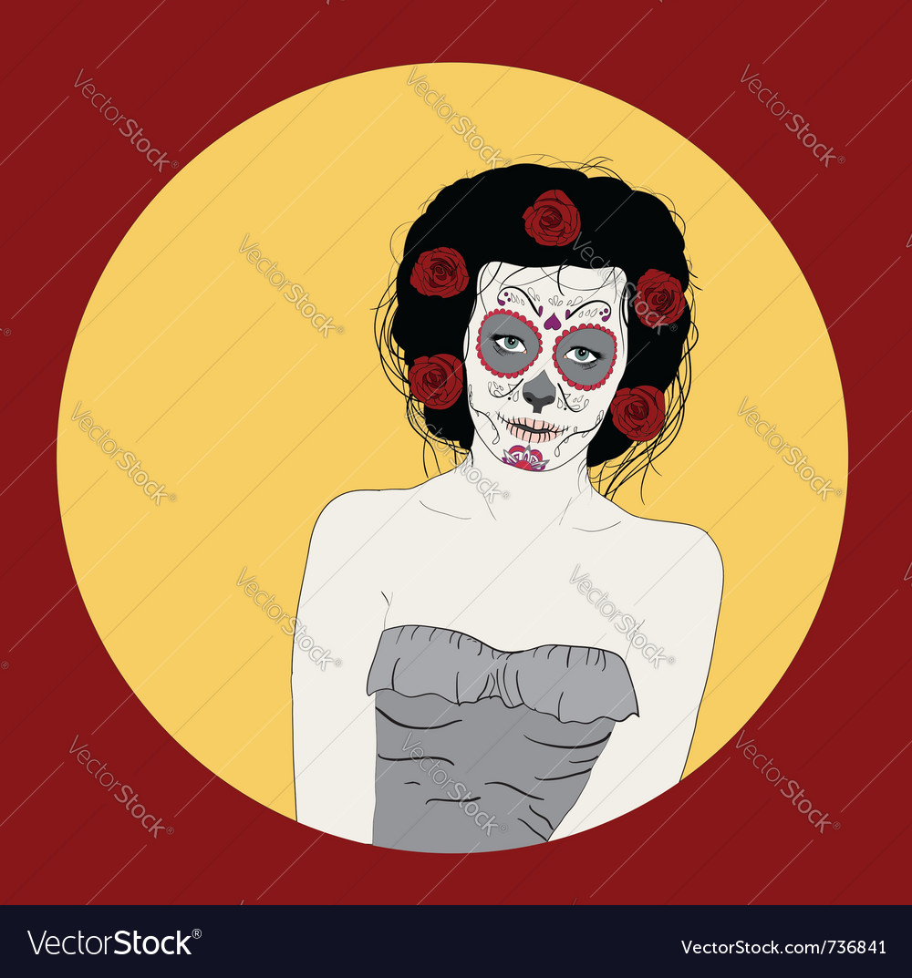 Day of dead girl vector | Price: 1 Credit (USD $1)