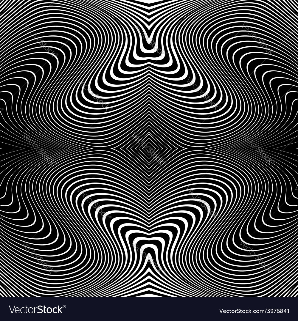 Design monochrome whirl lines motion background vector | Price: 1 Credit (USD $1)