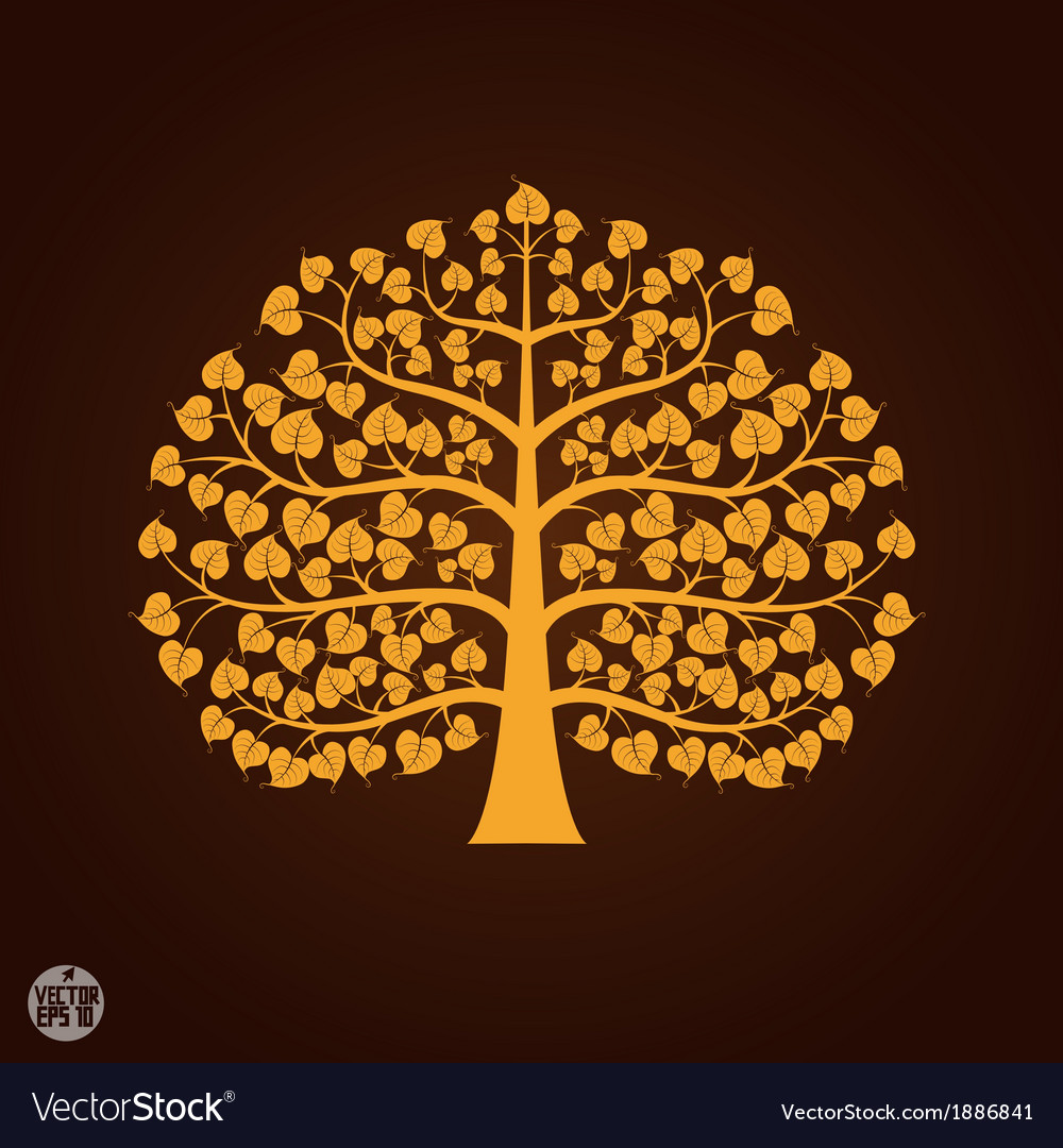 Golden bodhi tree symbol vector | Price: 1 Credit (USD $1)