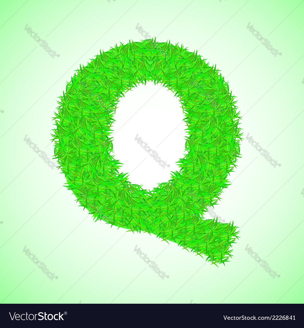 Grass letter q vector | Price: 1 Credit (USD $1)