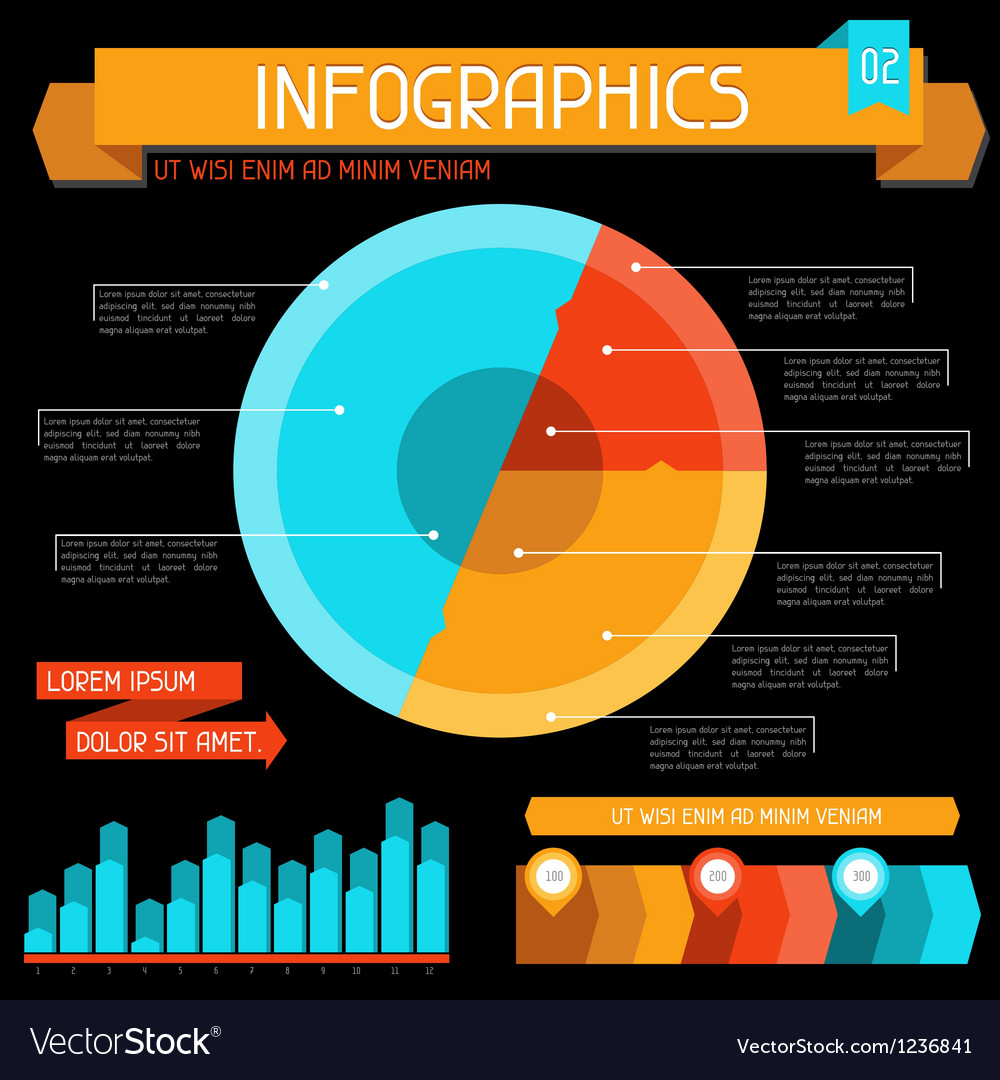 Infographics elements collection set 2 vector | Price: 1 Credit (USD $1)