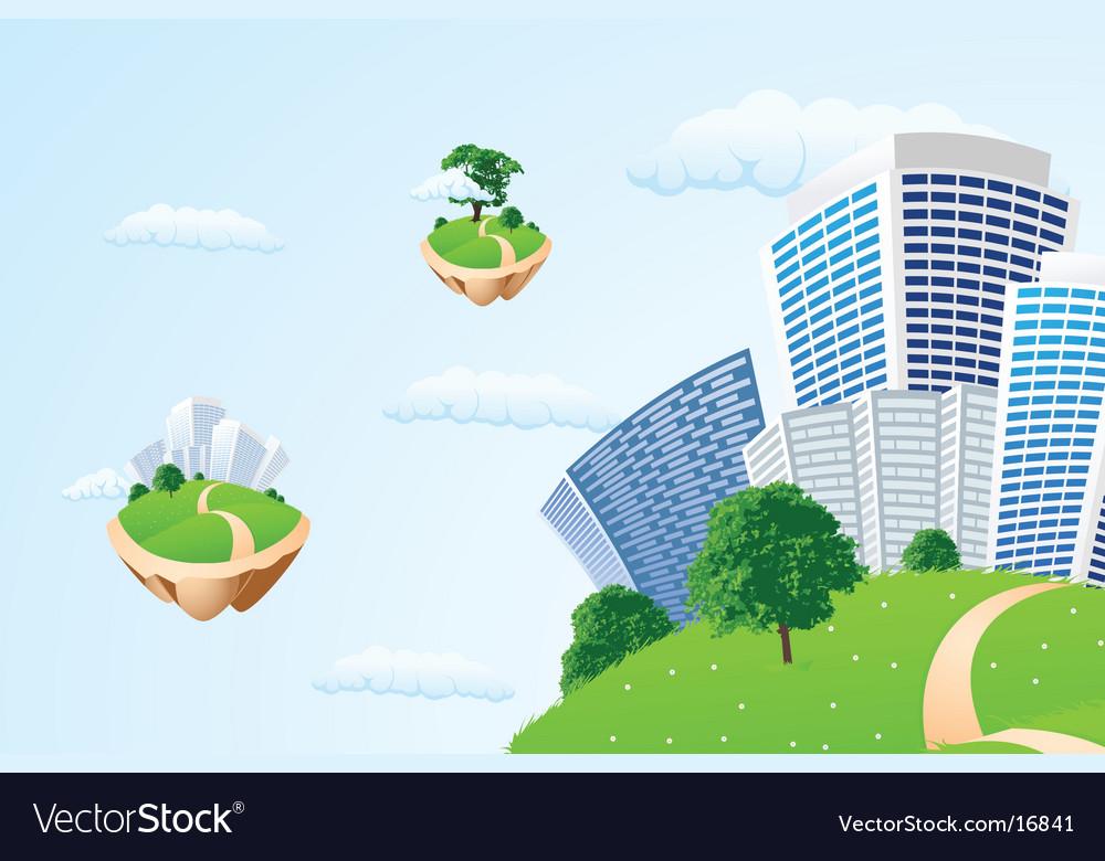 Nature landscape vector | Price: 3 Credit (USD $3)
