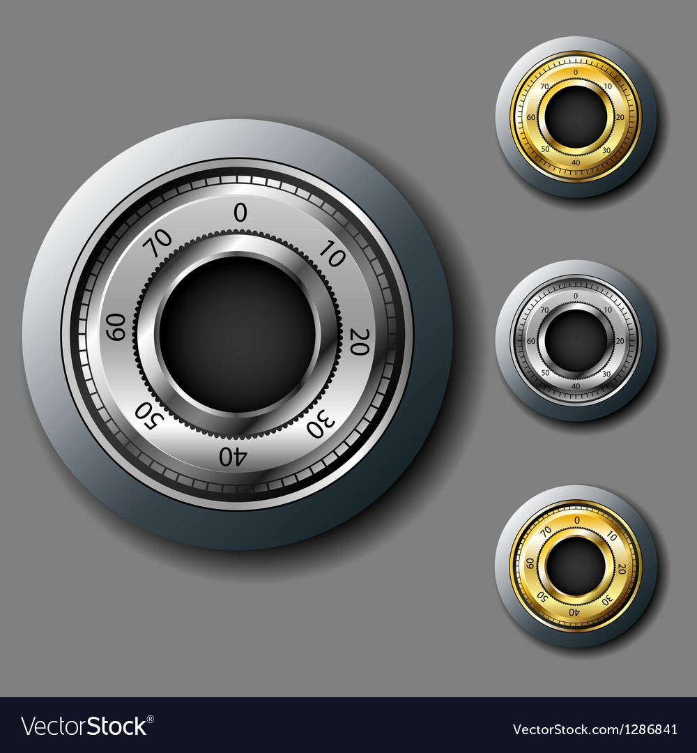 Safe combination lock set vector | Price: 3 Credit (USD $3)