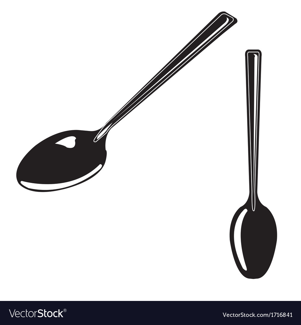 Spoon silhouetted vector | Price: 1 Credit (USD $1)