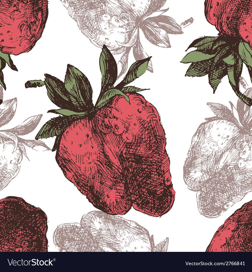 Strawberry seamless vector | Price: 1 Credit (USD $1)