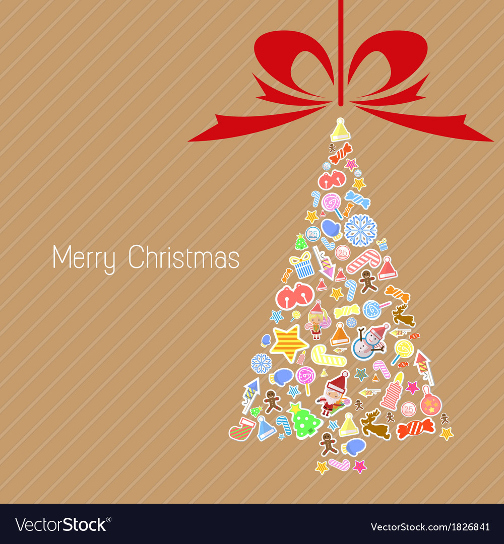 Stylized colorful background with christmas vector | Price: 1 Credit (USD $1)