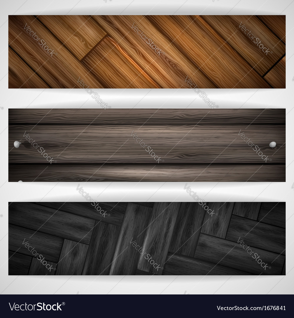 Wooden grey banner vector | Price: 1 Credit (USD $1)