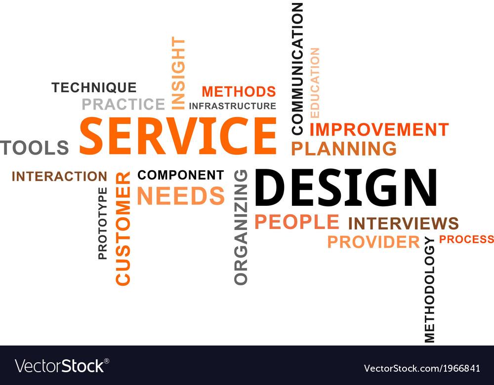 Word cloud service design vector | Price: 1 Credit (USD $1)