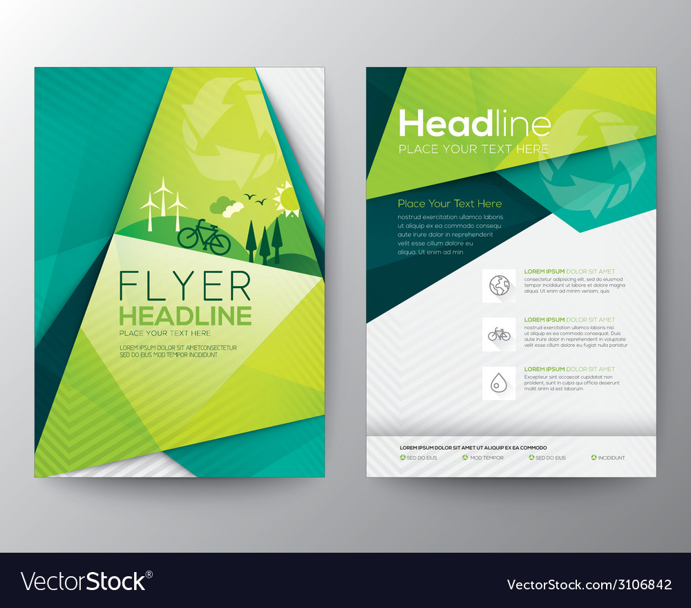 Abstract triangle brochure flyer design template vector | Price: 1 Credit (USD $1)