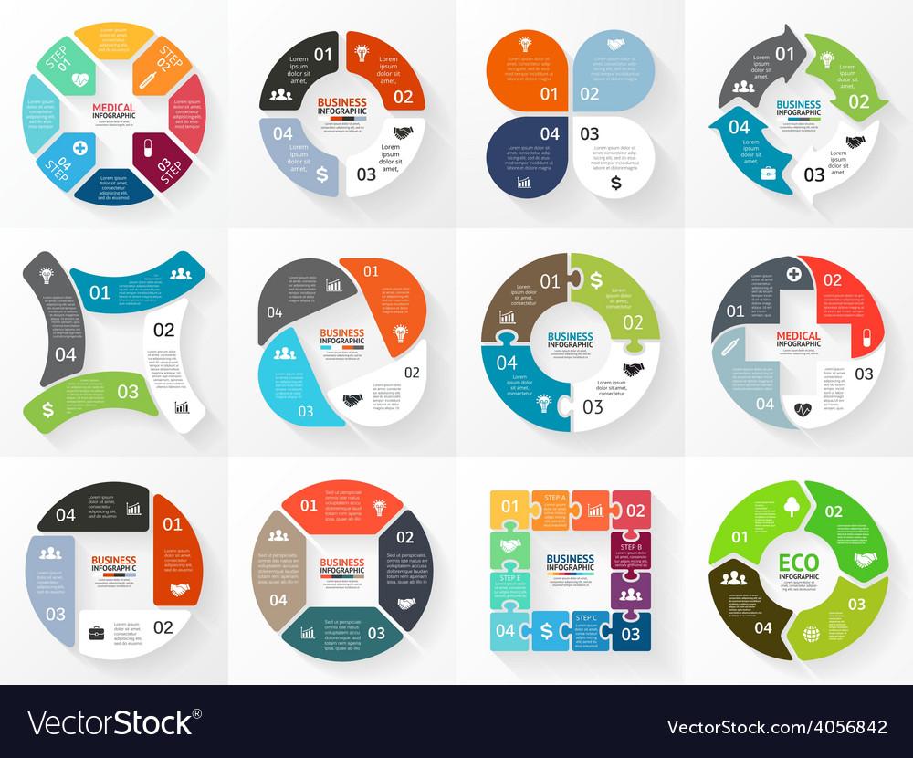 Circle arrows infographic diagram graph vector | Price: 1 Credit (USD $1)