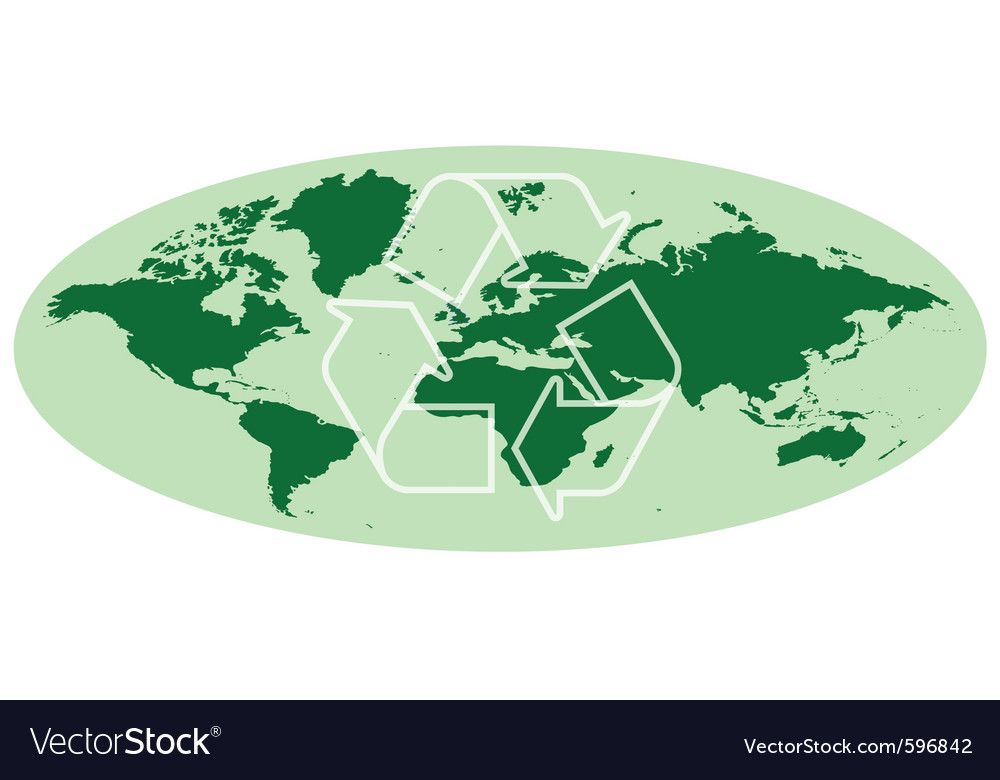 Earth map vector | Price: 1 Credit (USD $1)