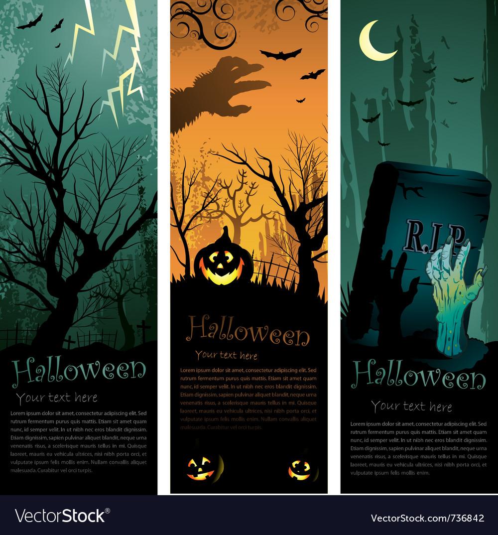 Halloweens vertical banners vector   Price: 1 Credit (USD $1)