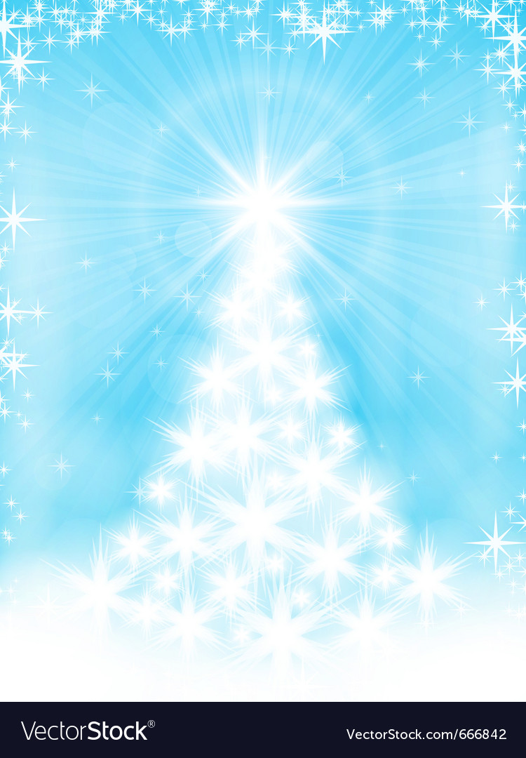 Light blue christmas tree background vector | Price: 1 Credit (USD $1)
