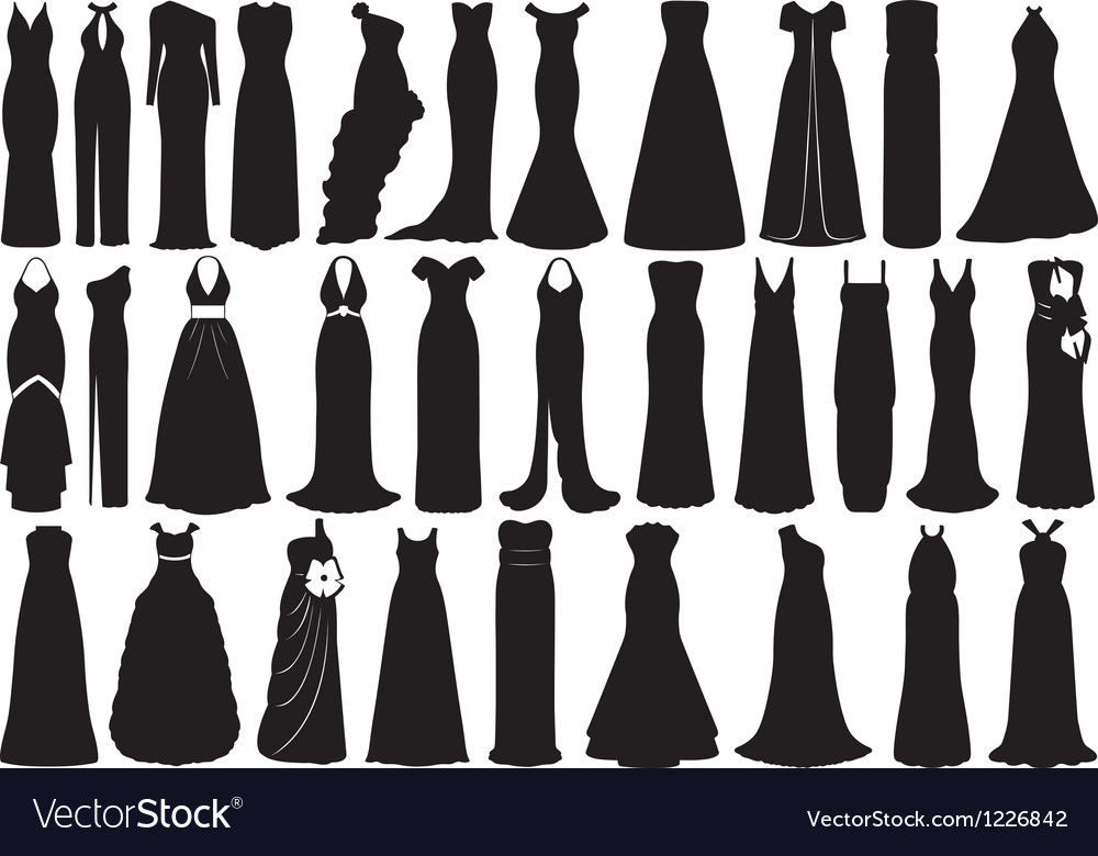 Set of dresses vector | Price: 1 Credit (USD $1)