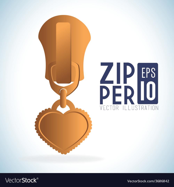 Zipper design vector | Price: 1 Credit (USD $1)