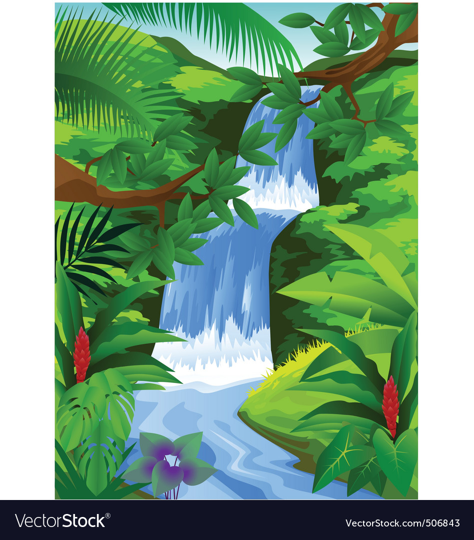 Beautiful tropical background vector | Price: 1 Credit (USD $1)