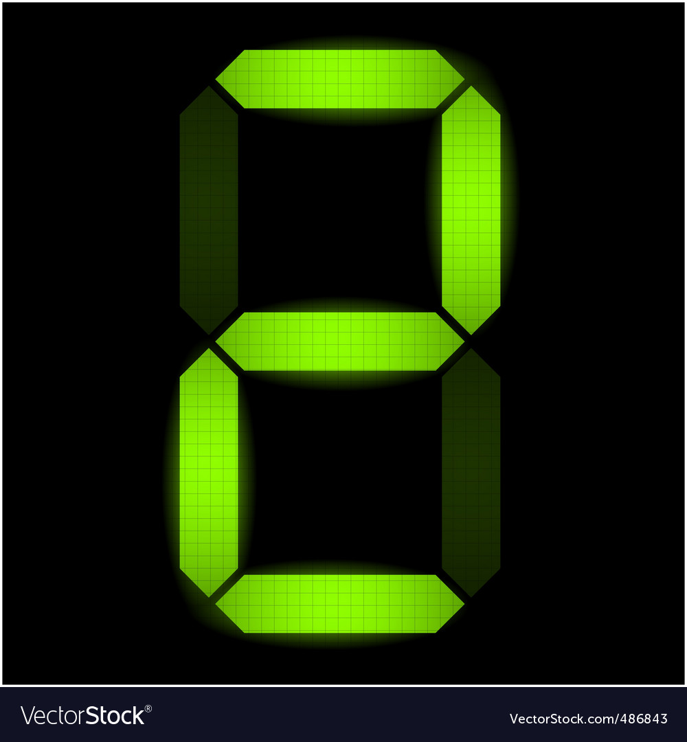 Digital number two vector | Price: 1 Credit (USD $1)