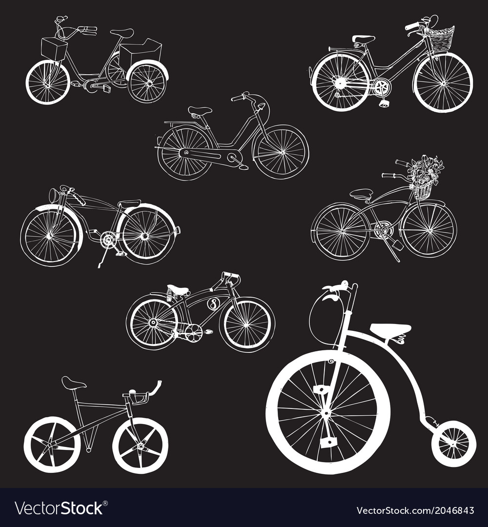 Doodle bicycles - hand drawn vector   Price: 1 Credit (USD $1)