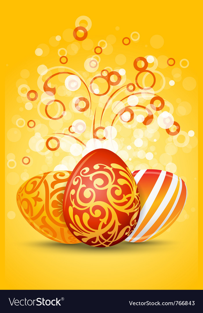 Easter eggs decoration vector | Price: 1 Credit (USD $1)